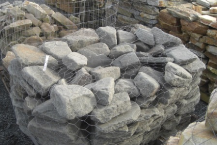 Bluestone tumbled boulders